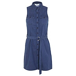 Miss Selfridge - Petites denim shirt dress