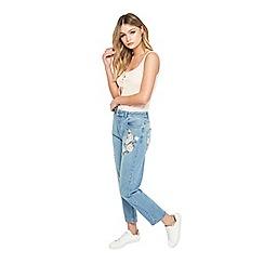 Miss Selfridge - Petites embroidered mom jeans