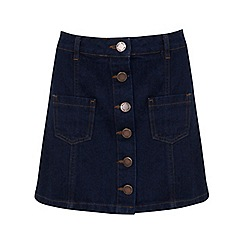 Miss Selfridge - Petites denim a line skirt