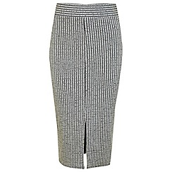 Miss Selfridge - Petites split front midi skirt