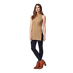 Miss Selfridge - Petites camel knitted tunic