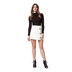 Miss Selfridge - Petites ivory scallop skirt