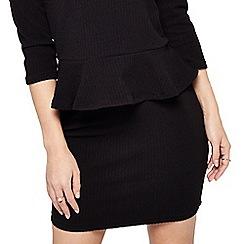 Miss Selfridge - Petites textured mini skirt