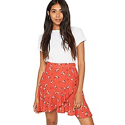 Miss Selfridge - Petite floral printed skirt