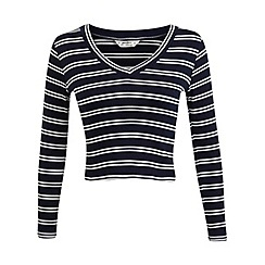 Miss Selfridge - Petites v neck stripe jumper
