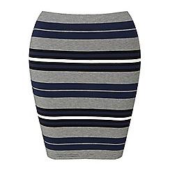 Miss Selfridge - Petites navy stripe mini skirt