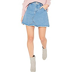 Miss Selfridge - Blue petite mini skirt