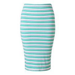 Miss Selfridge - Petites multi stripe midi skirt
