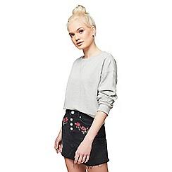 Miss Selfridge - Petite rose embroidered skirt