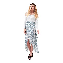 Miss Selfridge - Petites ivory wrap maxi skirt