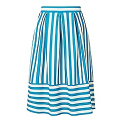 Miss Selfridge - Petites stripe midi skirt