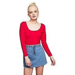 Miss Selfridge - Petite zip front skirt