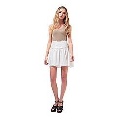 Miss Selfridge - Petites lace skater skirt