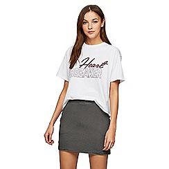 Miss Selfridge - Petite jersey stripe skirt