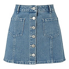 Miss Selfridge - Petites blue denim mini skirt