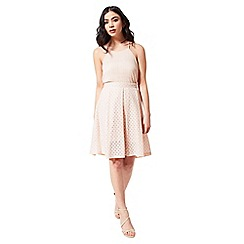 Miss Selfridge - Petites blush lace midi skirt