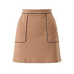 Miss Selfridge - Petite camel a-line mini skirt