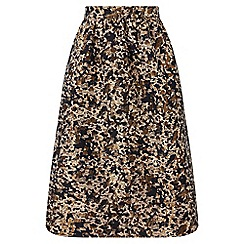 Miss Selfridge - Petite animal print midi skirt
