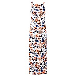 Miss Selfridge - Petite floral ties back maxi