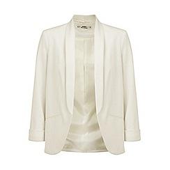 Miss Selfridge - Petites ivory jersey blazer