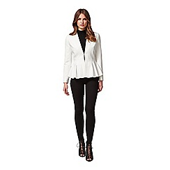 Miss Selfridge - Petites ivory peplum jacket