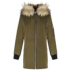 Miss Selfridge - Petites longline bomber jacket