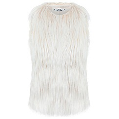 Miss Selfridge - Petites longline fur gilet