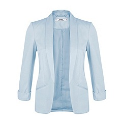 Miss Selfridge - Petite blue ponte blazer