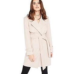 Miss Selfridge - Pink petite wrap coat