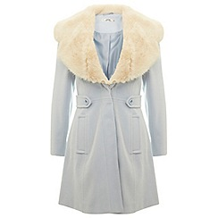 Miss Selfridge - Petites baby blue flare coat