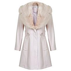 Miss Selfridge - Petites pink flared coat