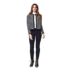 Miss Selfridge - Petites stripe boucle jacket
