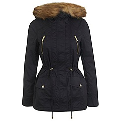 Miss Selfridge - Petites navy parka coat