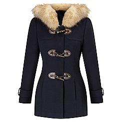 Miss Selfridge - Petites navy duffle coat