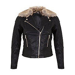 Miss Selfridge - Petites faux fur trim jacket