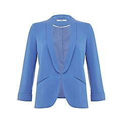 Miss Selfridge - Petites blue ponte blazer