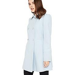Miss Selfridge - Blue pea petite coat