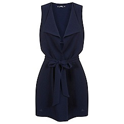 Miss Selfridge - Petites navy sleeveless jacket
