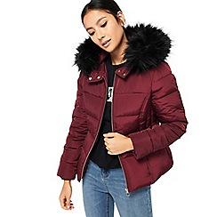 Miss Selfridge - Petite hooded puffa jacket