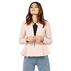 Miss Selfridge - Petite nude peplum jacket