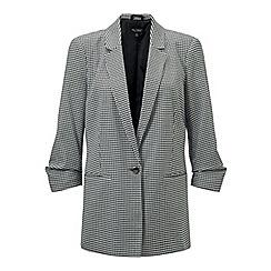 Miss Selfridge - Petite dogtooth check blazer