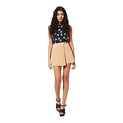 Miss Selfridge - Petites camel wrap skort