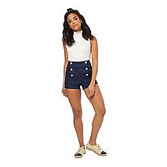 Miss Selfridge - Petites indigo sailor short