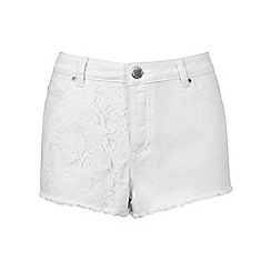 Miss Selfridge - Petites crochet denim shorts