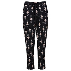 Miss Selfridge - Petite black print jogger