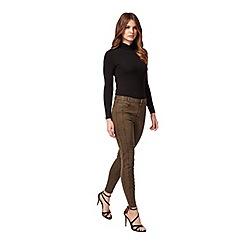 Miss Selfridge - Petites khaki trouser