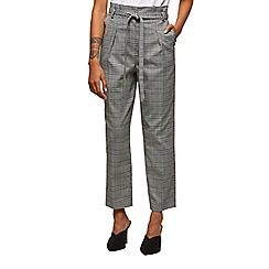 Miss Selfridge - Paper bag checked trousers