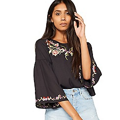 Miss Selfridge - Petite embroidered blouse