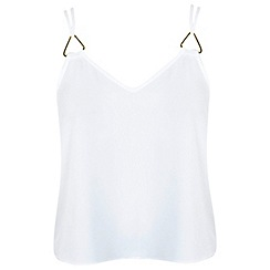 Miss Selfridge - Petite triangle trim cami top