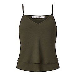 Miss Selfridge - Petites khaki cami top